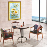 (SP-CT699) Atacado Antique Wooden Cafe Chair and Table Set Dining