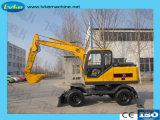 XCMGの公式Xe85製造業者8.5トンの安い車輪の掘削機
