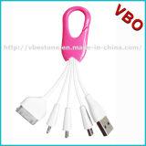 최신 판매는 USB 비용을 부과 케이블 Keychain 열쇠 고리 USB 케이블을 착색했다