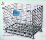 Zusammenklappbarer starker Stahlmaschendraht-Behälter