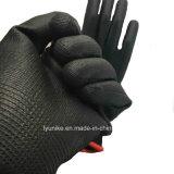 Безопасность Безопасность черного цвета с покрытием PU рабочие перчатки