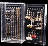 명확한 아크릴 상점 소매 메이크업 장식용 목걸이 보석 전시