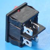 Pin del interruptor de eje de balancín de Dpst del botón rojo 4 encendido-apagado