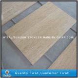 Bege pedra mármore travertino polido para Espalhadoras, pavimentos de azulejos do piso