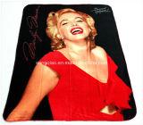 Manta de lã de poliéster com desenhos personalizados / cobertor personalizado