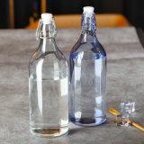 100% sin llevar 200ml-1000ml frasco de vidrio transparente con hebilla