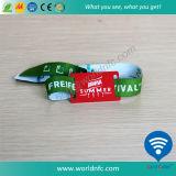 Bracelet d'IDENTIFICATION RF tissé par tissu remplaçable d'à haute fréquence de NFC pour l'usager de festival
