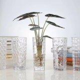 De decoratieve Vaas van het Glas van de Vorm van het Patroon Vierkante voor Bureau, Huis