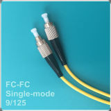 Corde de pièce rapportée optique unimodale de fibre de PC de FC-FC