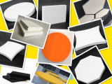 Comitato di parete decorativo acustico 3D del cartone di fibra del poliestere