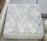 Disegno di marmo bianco orientale della maschera delle mattonelle di mosaico