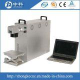 Machine d'inscription de laser de logo en métal de commande numérique par ordinateur de fibre