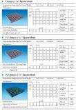 4 ' X12', 3 ' x10', 4 ' x8 Vierkante Gevormde Grating van het Netwerk Fiberglass/FRP met Corrosiebestendig Met hoge weerstand