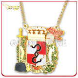 Medallón plateado oro modificado para requisitos particulares del festival de Carnaval