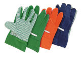 Travail pointillé simple Glove-2600 de coton de PVC