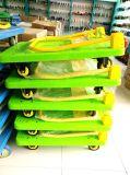 300 Kg Green Color Platform Handcart Carrinho de plástico sem ruído