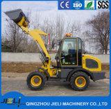 La máquina cargadora de ruedas de la construcción de 1,5 toneladas de fábrica para la venta
