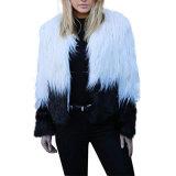 Cappotti di pelliccia Shaggy del Faux di tono del parka due di inverno delle donne d'abbigliamento personalizzate della fabbrica 2018