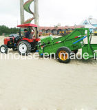 O líquido de limpeza da areia da praia eficaz limpa o desperdício na areia