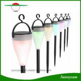 6pcs/Lot cambia de color de Energía Solar al aire libre de las luces de LED RGB Lámpara Solar para patio camino paisaje césped
