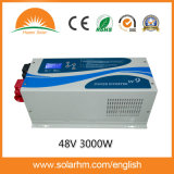 (W9-30248) 3000W 48Vの低周波の情報処理機能をもった壁に取り付けられたインバーター