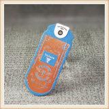 Diseño de papel de encargo de la etiqueta con las cuerdas para la ropa