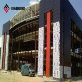 Matériau moderne de finissage de mur extérieur d'aluminium de modèle de construction d'Ideabond (AF-411)