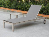 De moderne Euro Chaise van het Aluminium van het Terras Lanterfanter zit Meubilair van de Tuin van de Slinger het Achter Regelbare Openlucht voor
