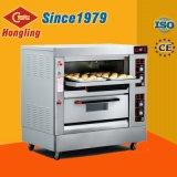 2-pont 4-Bac four électrique de haute qualité de l'équipement de boulangerie four à pizza, deck four
