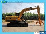 -6.874.58L L Escavadeira de capacidade com Grab para a captura de Resíduos Industriais