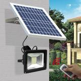 リモート・コントロール太陽LEDの屋外の動力を与えられた緊急の動きセンサーの機密保護の庭の洪水の壁ライト