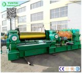 고무에게 시트를 깔기를 위한 Dalian Yuntai Xk-660 2 롤 섞는 선반 기계