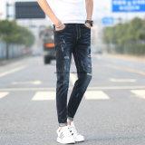 Pantalons Slim rétro pour hommes à haute qualité Leisure Patch Ripped Jeans
