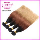 Omber pacotes de cabelo Virgem malaio malaio barata de cabelo humano três tons de extensão de cabelo