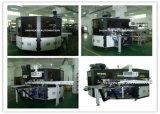Автоматическая печатная машина экрана для пластмассы разливает пробки по бутылкам