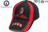 Parche bordado de calidad superior de la etiqueta Béisbol Negro Caps / sombreros de los deportes