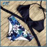 섹시한 교차하는 브라질 비키니 여자 수영복 바닷가 수영복은 위로 민다