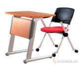 جدول التدريب طوي مكتب مع سبائك الألومنيوم الساق لغرفة المؤتمر أو غرفة الاجتماعات الأثاث اجتماع
