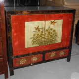 Het antieke Houten Kleine Kabinet Lwb827 van Mongolië