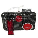 кнопка +Relay старта двигателя рычага панели углерода переключателя стартера переключателя зажигания участвуя в гонке автомобиля 12V