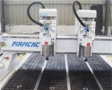 Doppelt-Kopf CNC-hölzerne Ausschnitt-Gravierfräsmaschine