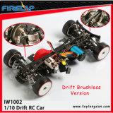 1/10 RC eléctrico sin escobillas RTR RC Drift 4WD coche con Forma Azul