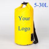 Logotipo personalizado adaptado a Tiracolo Piscina Sport mochila impermeável Saco Seco