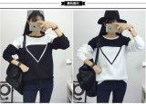 흑백 덧대어깁기 주문 색깔 패턴 여성 저어지 스웨트 셔츠 Hoodies