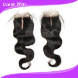 2015 nuovo Arrival Silk Base Top Lace Closure con Baby Hair Peruvian Hair Body Wave