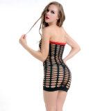 Оптово плюс женщины сексуальное Bodystocking Fishnet и шнурка размера