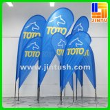 Bandeira de praia personalizado impressão UV exibição do banner de lágrima