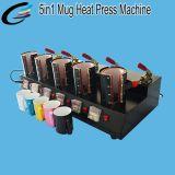Garantía de calidad 5en1 Taza combinada de calor de la fábrica de la máquina de prensa