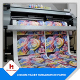 64 ' 100GSM, papier de transfert visqueux de sublimation de taille de roulis de la sublimation 70GSM pour des vêtements de sport