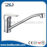 Mélangeur de robinets de bassin monté par plate-forme en laiton de robinet de bassin de cuisine de chrome